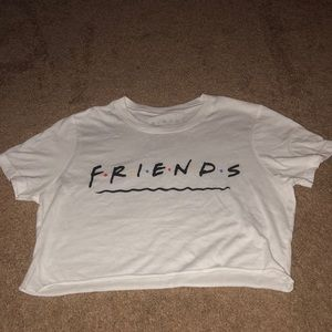 Friends television show cropped tee
